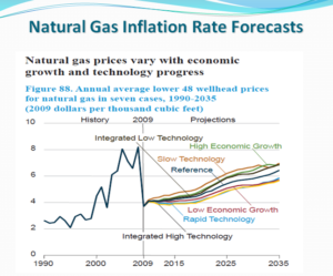 Nat Gas Inflation Rate Forecast